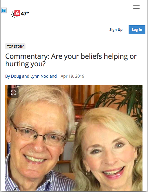 """Chanhassen Villager: """"Commentary: Are your beliefs helping or hurting you?"""""""