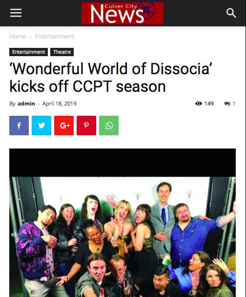"Culver City News: ""'Wonderful Wold of Dissocia' kicks off CCPT season"""